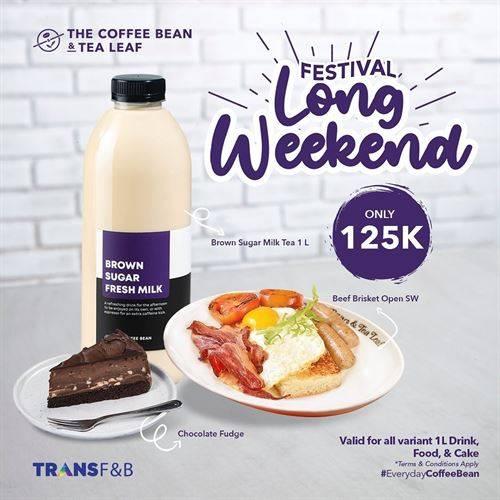 Diskon The Coffee Bean Promo Festival Long Weekend Only 125K