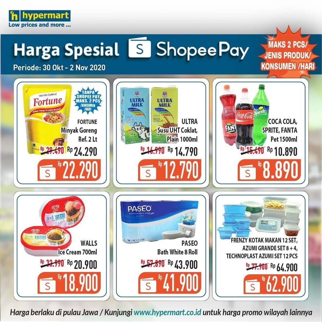 Diskon Hypermart Promo Katalog Shopeepay 30 Oktober - 2 November 2020
