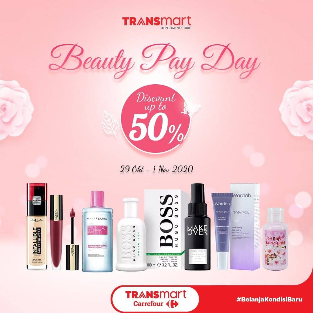 Diskon Transmart Beauty Payday - Discount Up To 50% Off on Selected Beauty Products