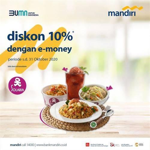 Diskon Solaria Promo E-Money Mandiri Diskon 10%