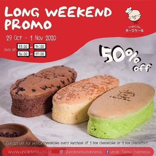 Diskon Uncle Tetsu Long Weekend Promo 50% Off