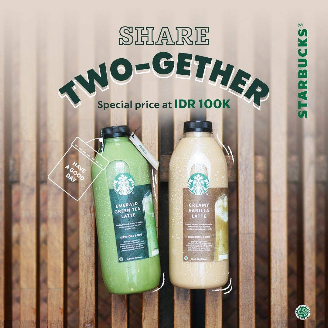 Diskon Starbucks Promo Share Two - Gether Special Price Only For Rp. 100.000