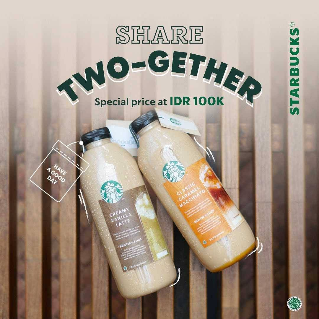 Promo diskon Starbucks Promo Share Two - Gether Special Price Only For Rp. 100.000