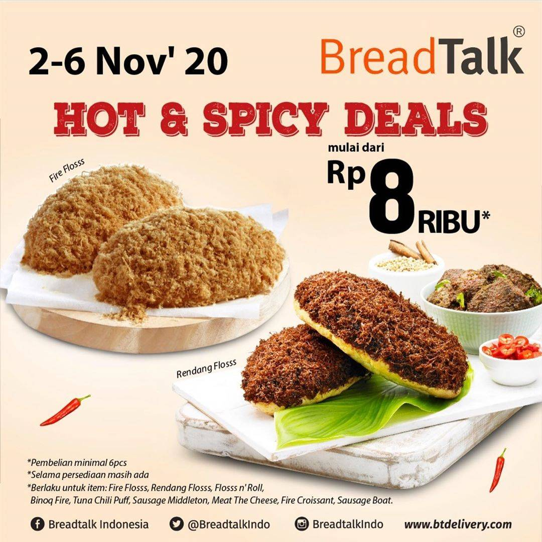 Diskon Breadtalk Promo Hot & Spicy Deals Mulai Dari Rp. 8.000