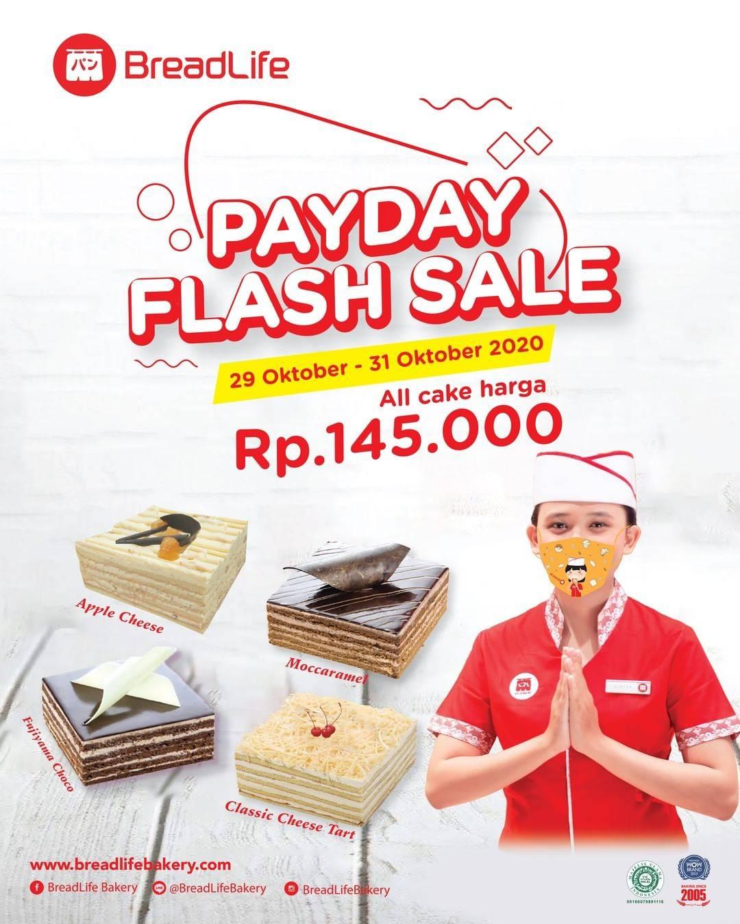 Diskon Breadlife Promo Payday Flash Sale All Cake Hanya Rp. 145.000