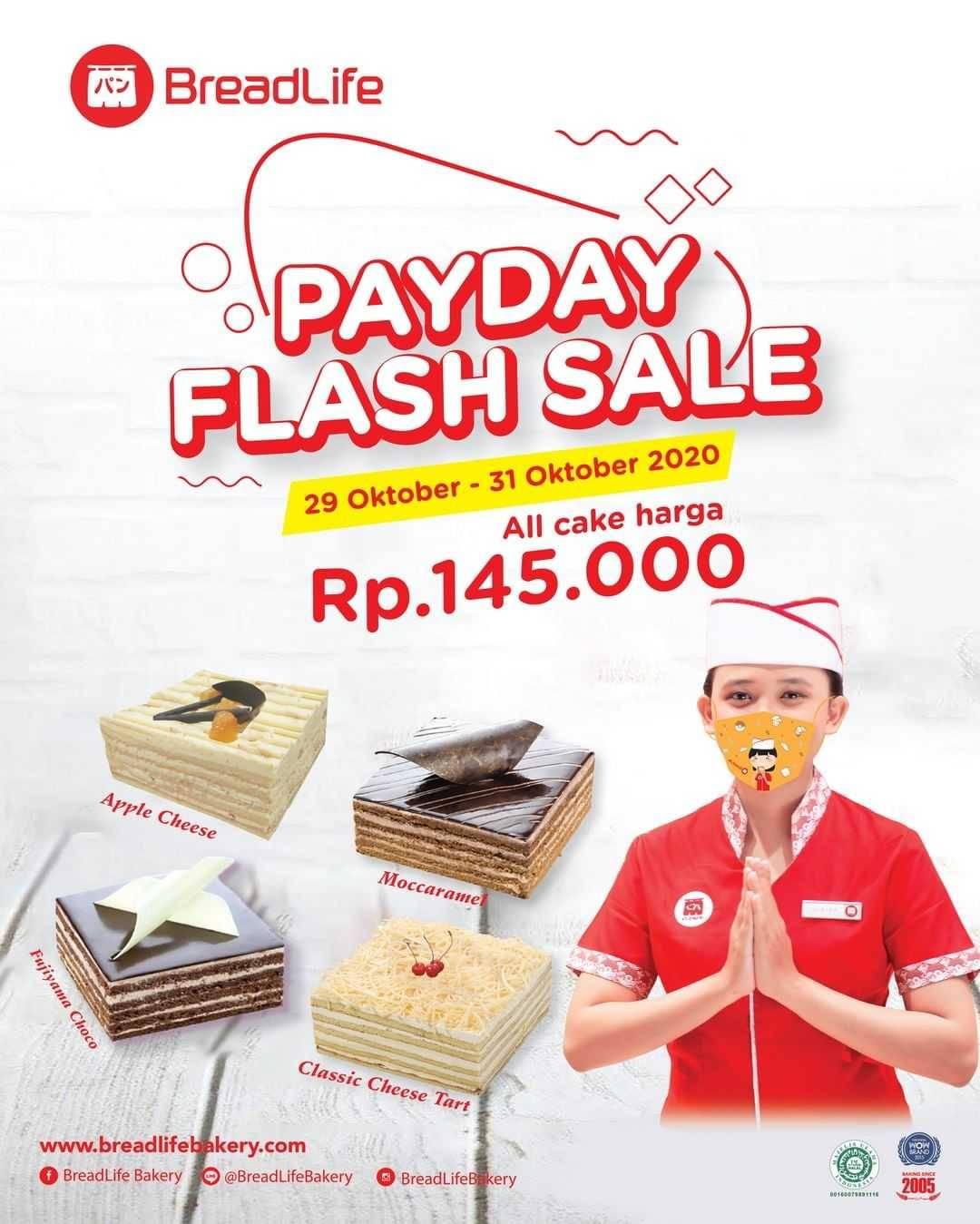 Promo diskon Breadlife Promo Payday Flash Sale All Cake Hanya Rp. 145.000