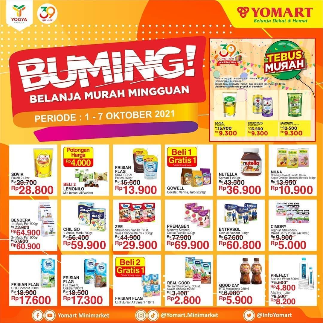 Promo diskon Katalog Promo Yomart Belanja Murah Mingguan Periode 1 - 07 Oktober 2021