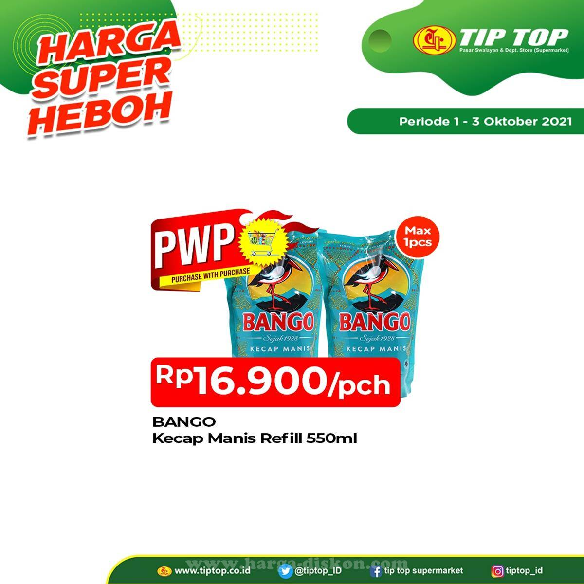 Promo diskon Promo TipTop Akhir Pekan Weekend JSM Periode 1-3 Oktober 2021