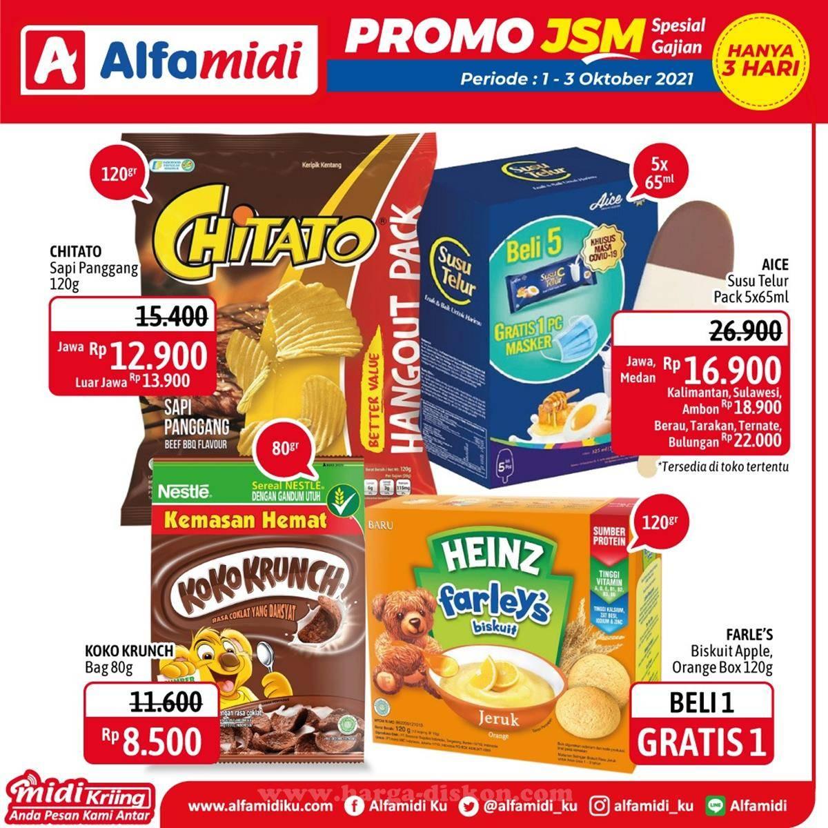 Promo diskon Promo ALFAMIDI Akhir Pekan Weekend JSM Periode 1-3 Oktober 2021