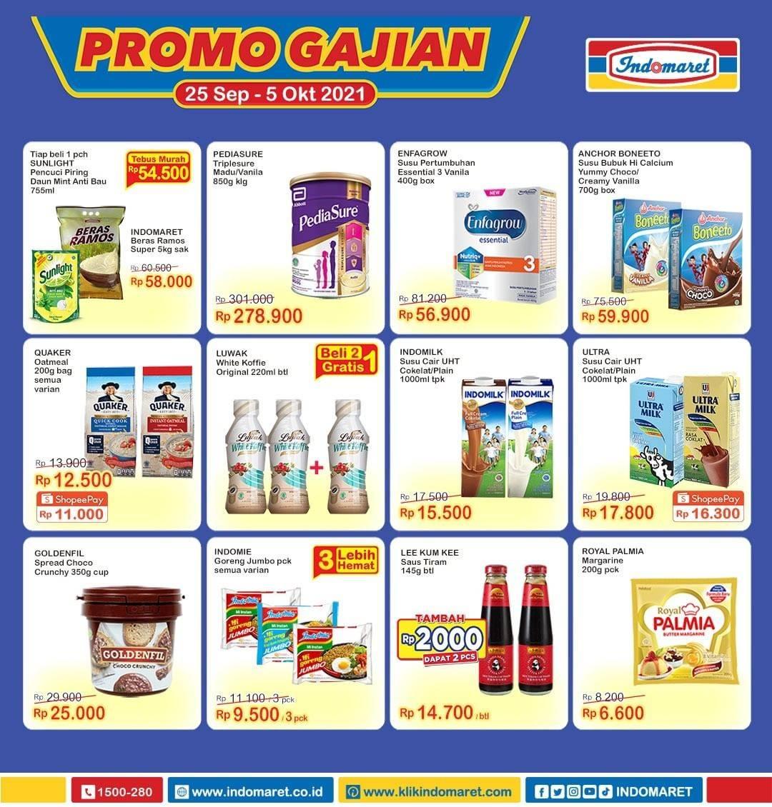 Promo diskon Katalog Indomaret Promo Gajian 25 Sept - 5 Oktober