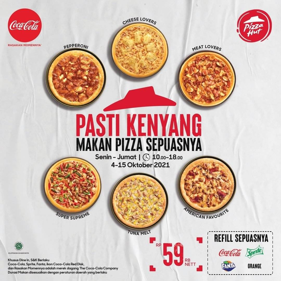 Diskon Promo Pizza Hut All You Can Eat Rp 59K