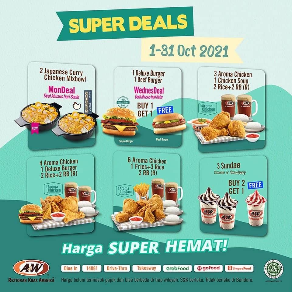 Diskon A&W Promo Super Deals Oktober 2021