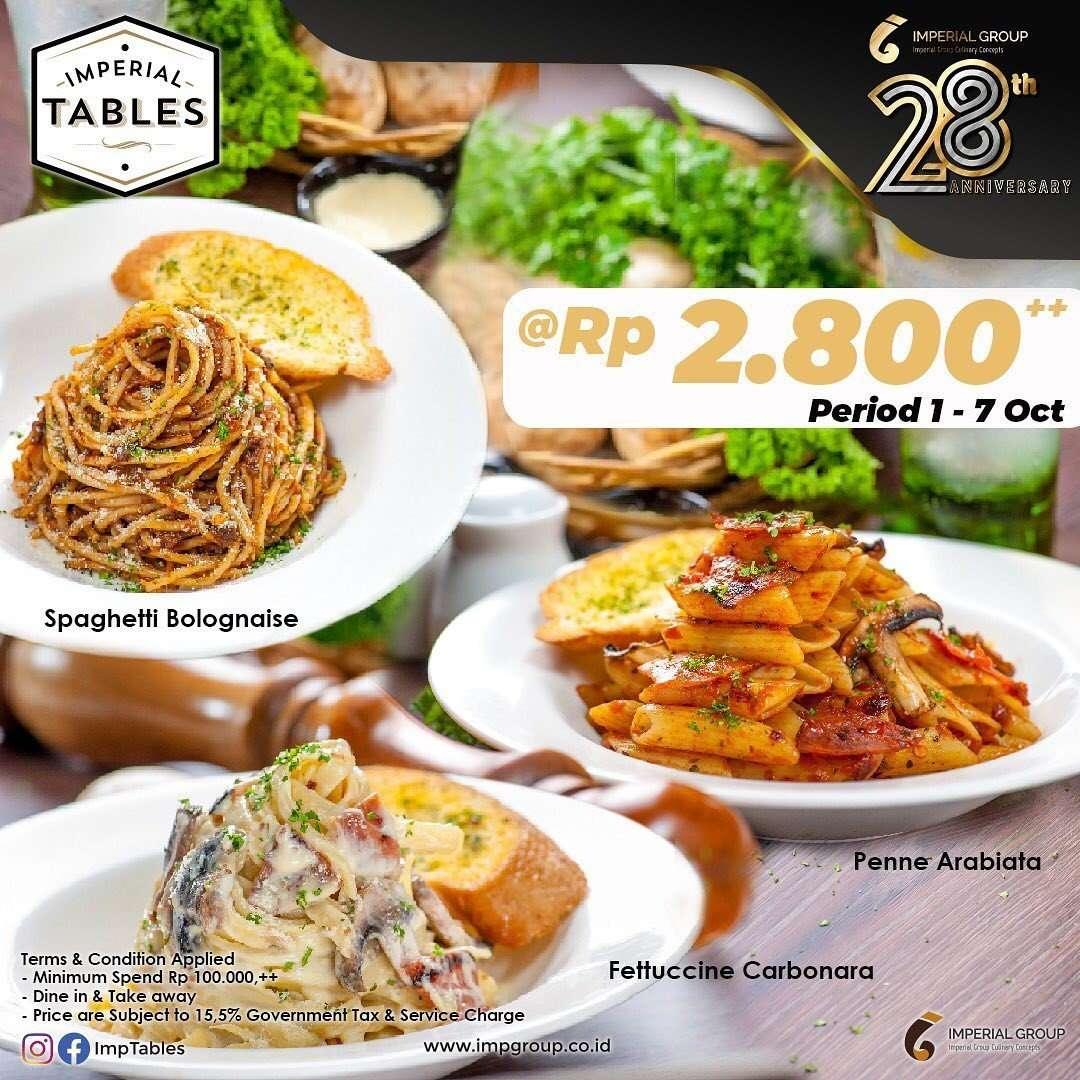 Diskon Promo Imperial Tables Pasta Hanya Rp 2.800