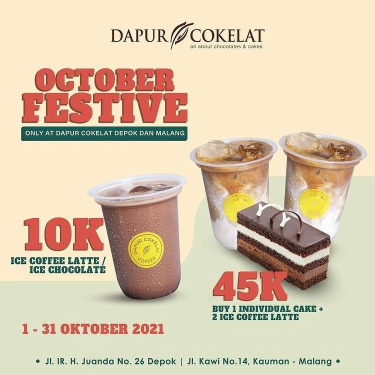 Diskon Dapur Cokelat Promo October Festive, Mulai dari Rp 10.000
