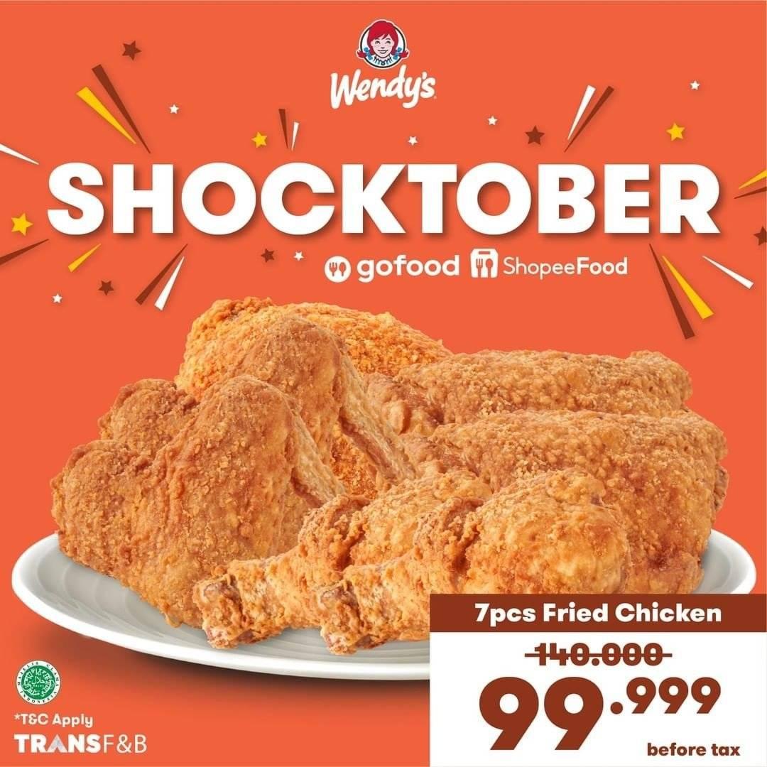 Diskon Promo Wendys Shocktober 7 Ayam Rp 99K