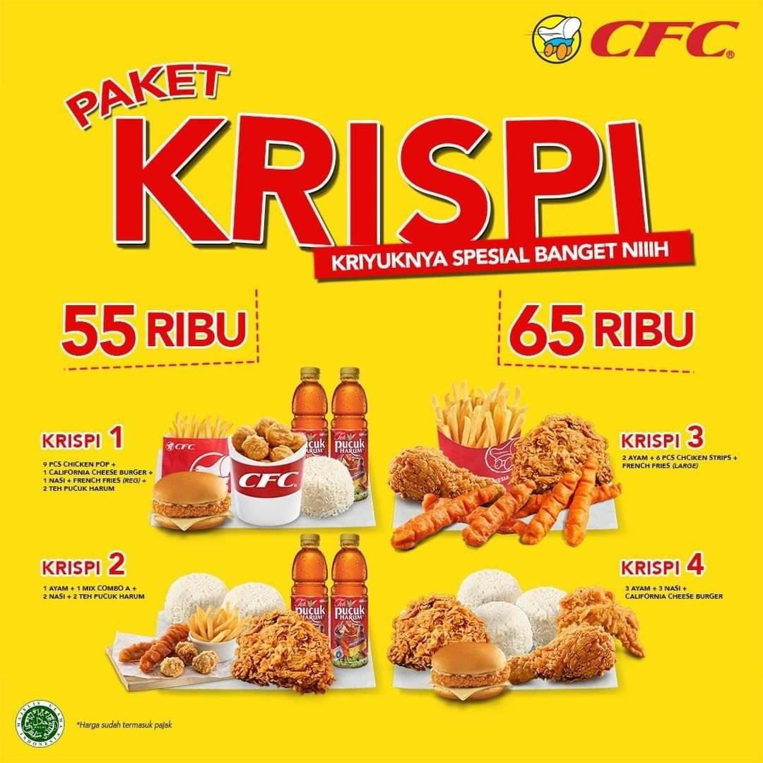 Diskon Promo CFC Paket Krispi Mulai Dari Rp 55K