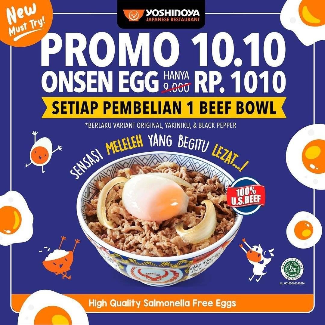 Diskon Yoshinoya Promo 10.10 Onsen Hanya Rp 1010 Untuk Pembelian 1 Beef Bowl