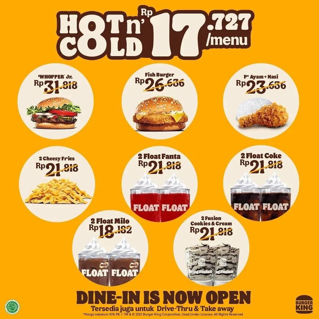 Diskon Burger King Promo Menu Hot N' Cold Hanya Rp 17 Ribuan