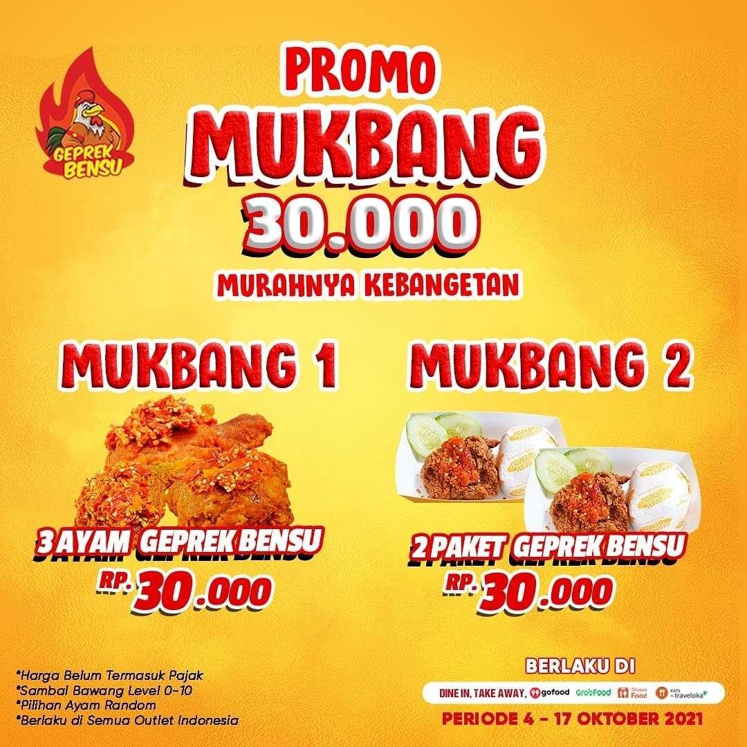 Diskon Promo Geprek Bensu Mukbang