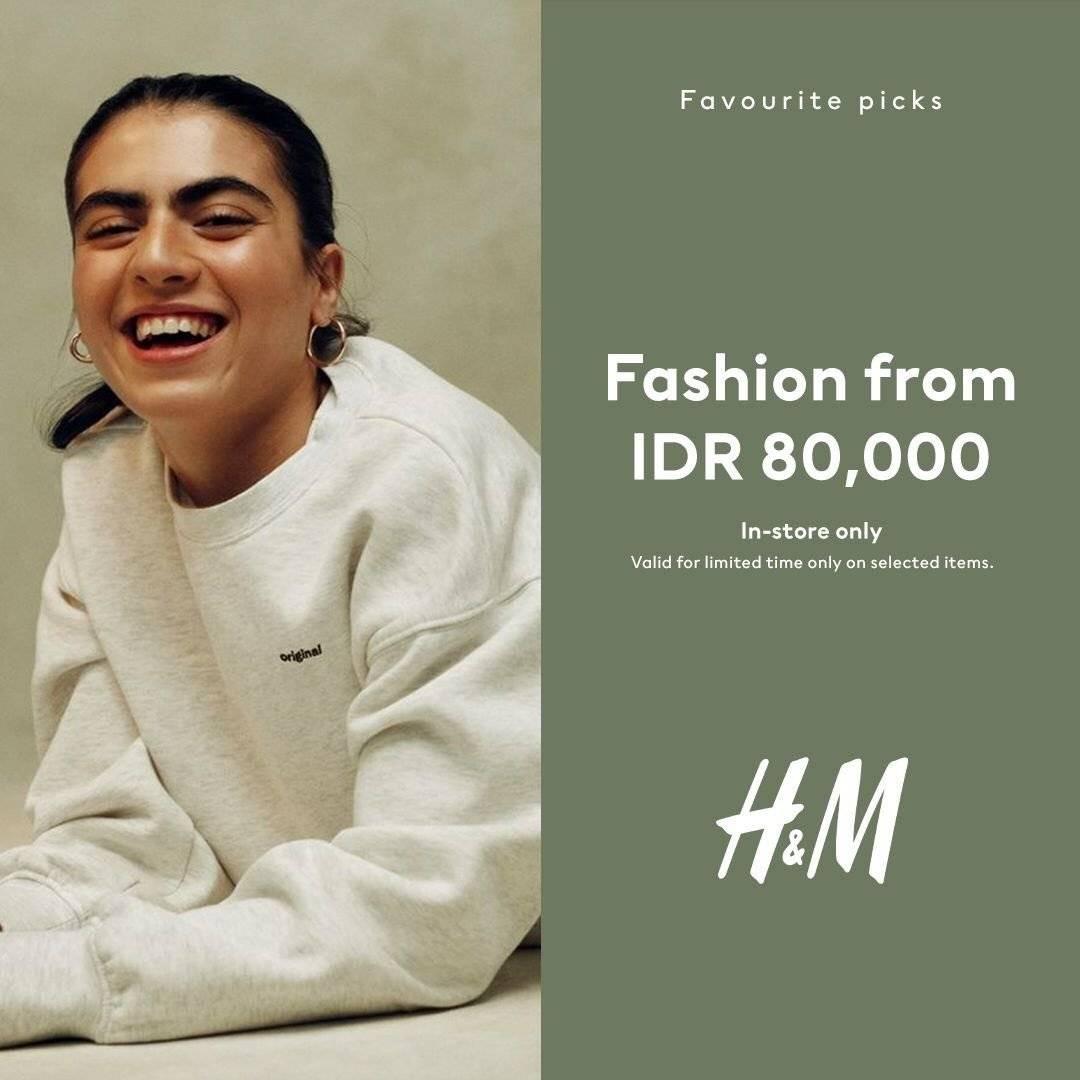 Diskon Promo H&M Mulai Dari Rp 80.000