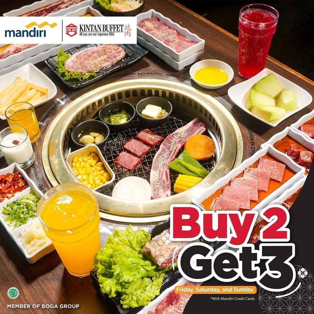 Diskon Promo Shaburi & Kintan Buffet Buy 2 Get 3 dengan Kartu Mandiri