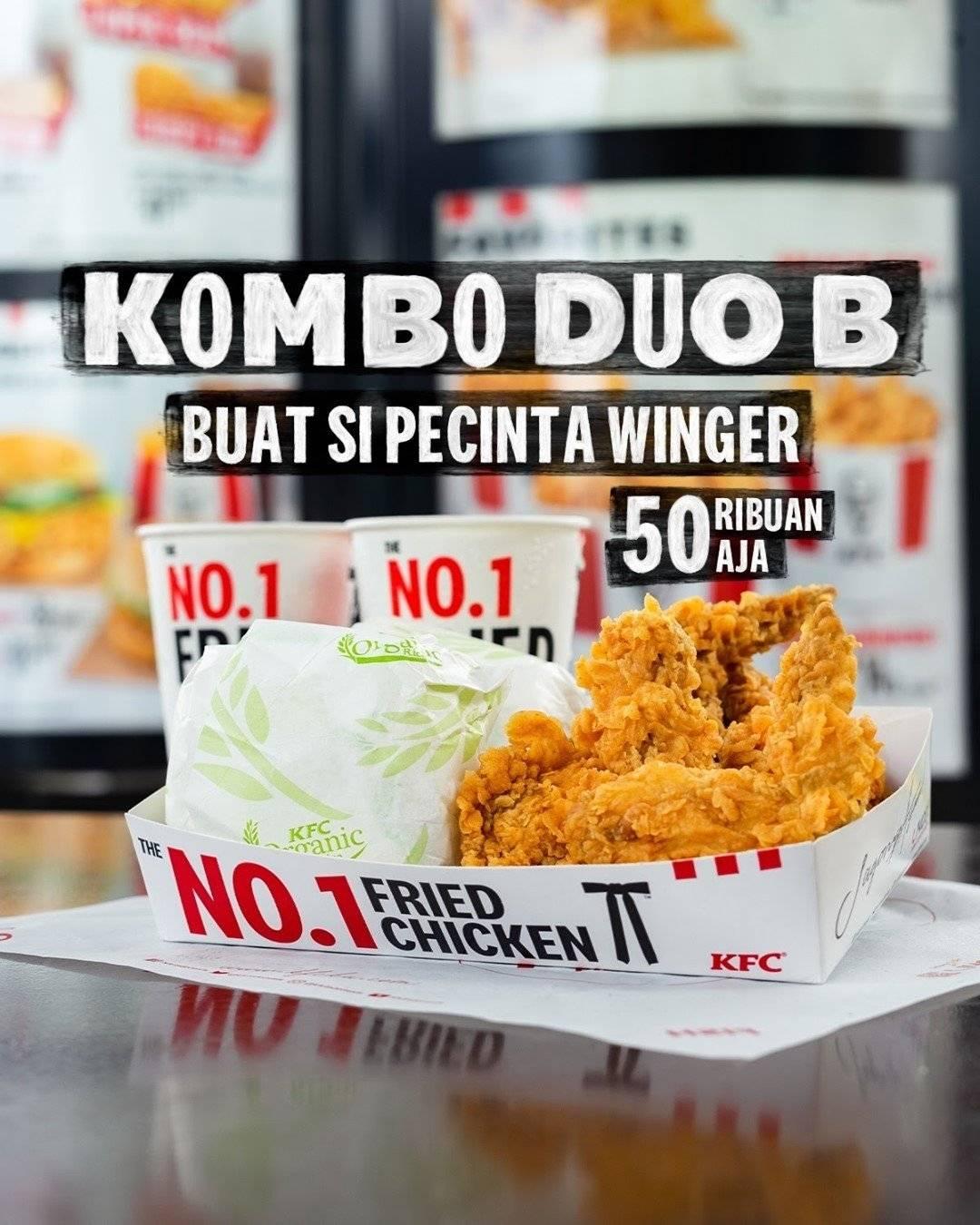 Diskon Promo KFC Kombo Duo B Rp 50 Ribuan