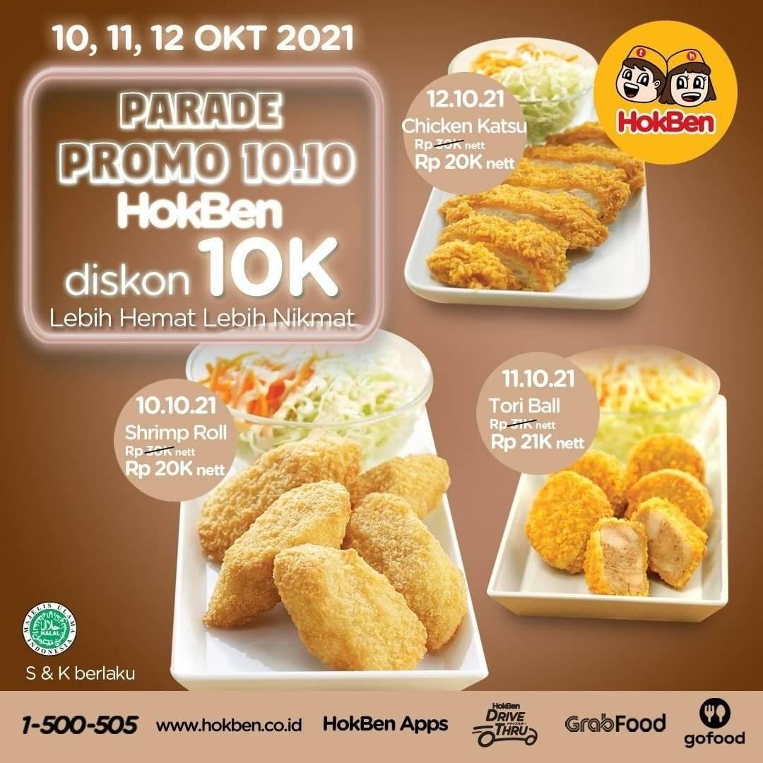 Diskon Promo Hokben 10.10 Diskon 10K