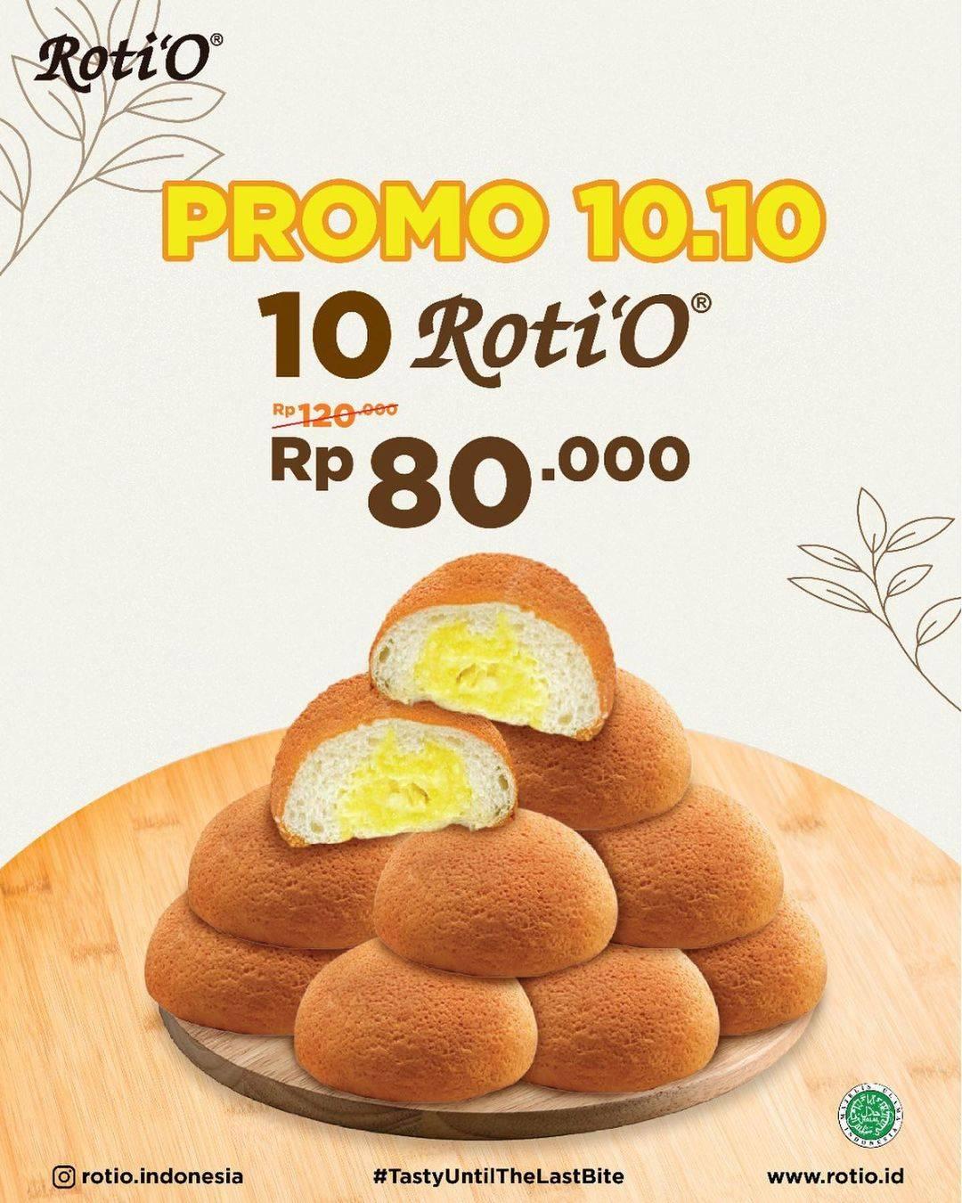 Diskon Promo Roti'O 10.10 Spesial