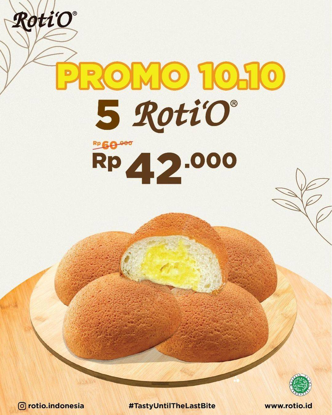 Promo diskon Promo Roti'O 10.10 Spesial