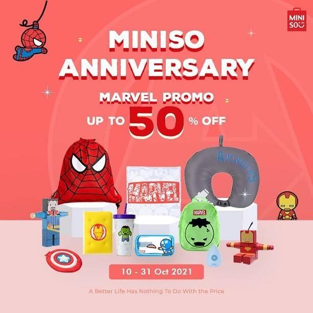 Diskon Miniso Promo 5th Anniversary Diskon 50%