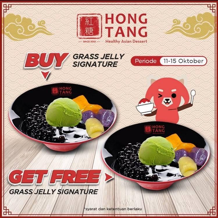 Diskon Promo Hong Tang Buy 1 Get 1 Grass Jelly Signature