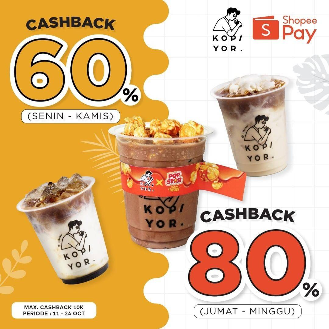Diskon Kopi Yor Promo Cashback s/d 80% dengan Shopeepay