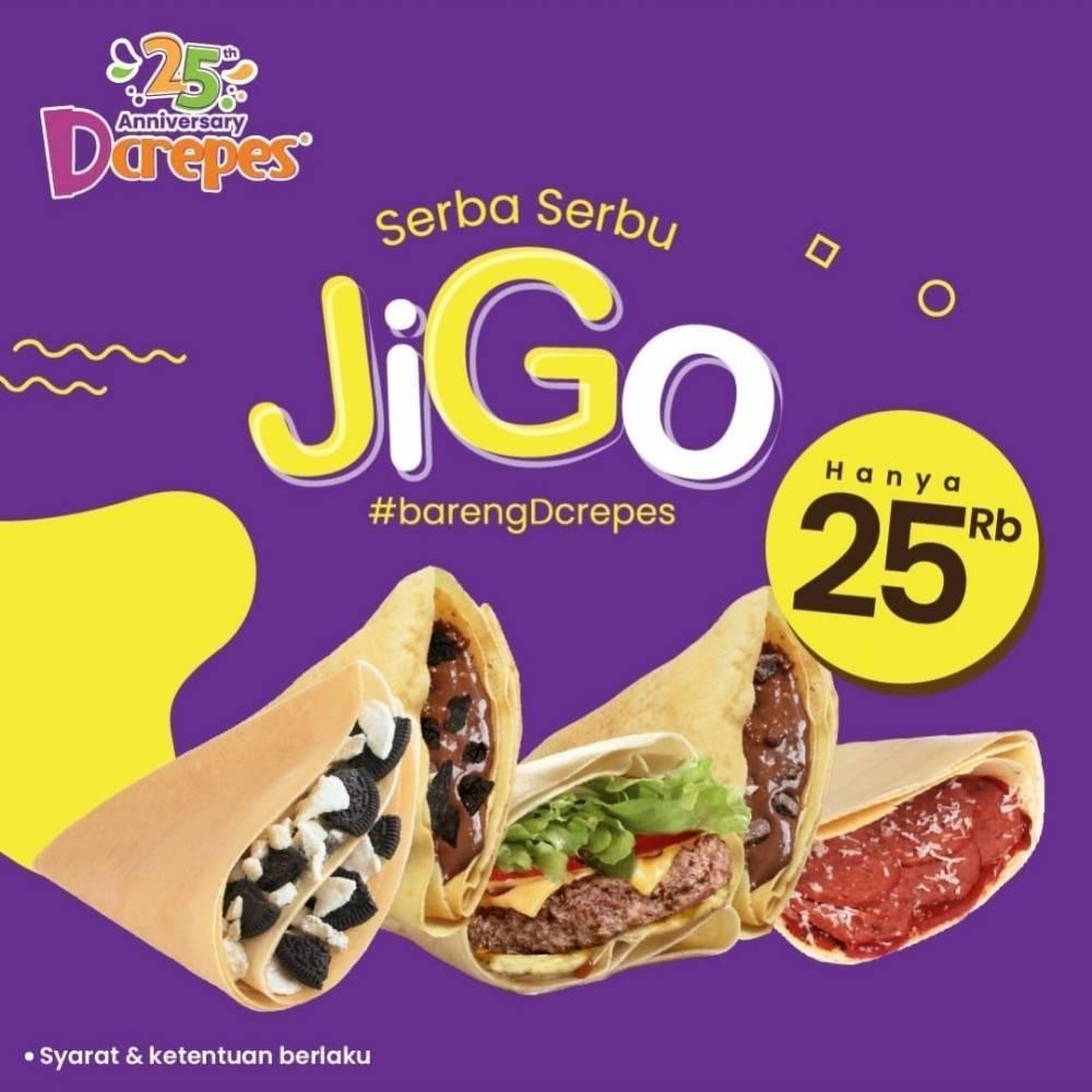 Diskon Promo DCrepes Jigo Hanya Rp 25.000