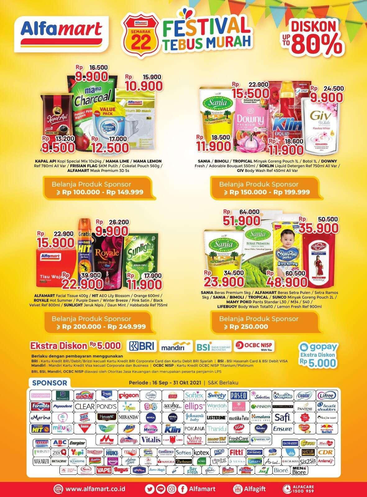 Promo diskon Promo Alfamart Terbaru Katalog Periode 1-15 Oktober 2021