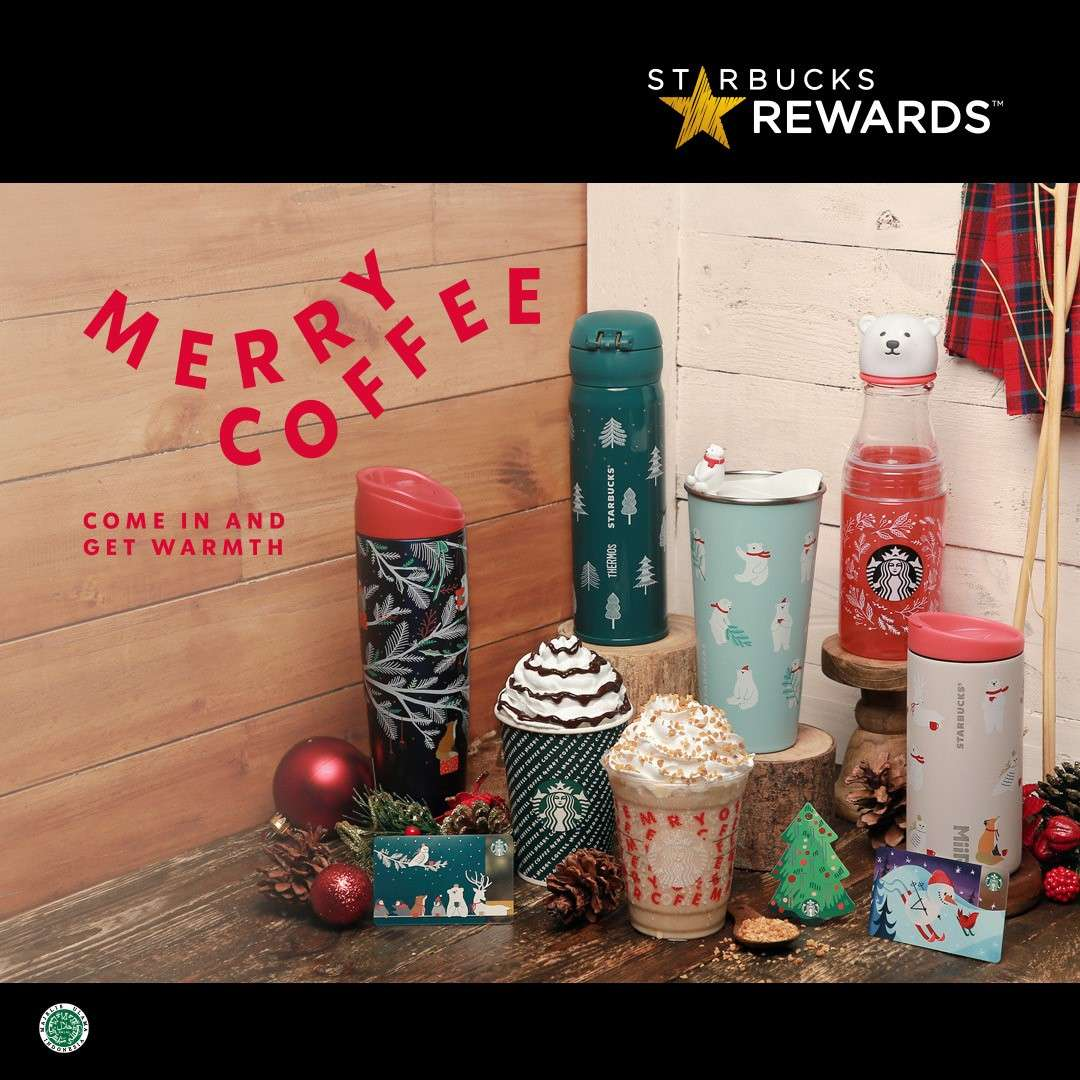 Starbucks Pre-Sale Holiday Season Drink and Merchandise Exclusively only for Starbucks Rewards Membe