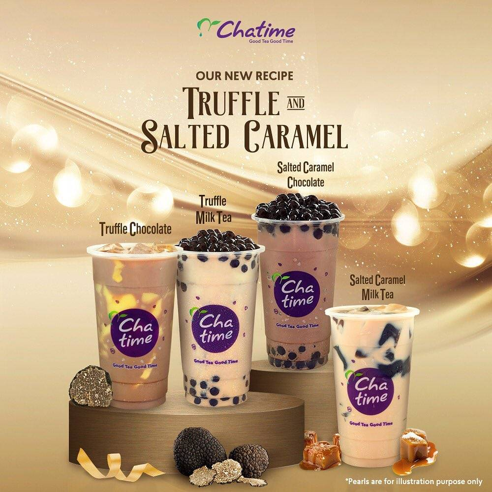Chatime Promo New Recipe Truffle And Salted Caramel