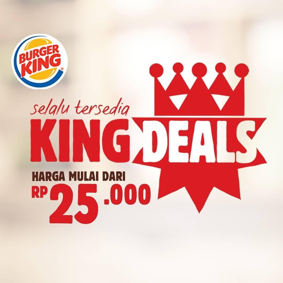 Burger King Promo King Deals Harga Spesial mulai Rp. 25.000
