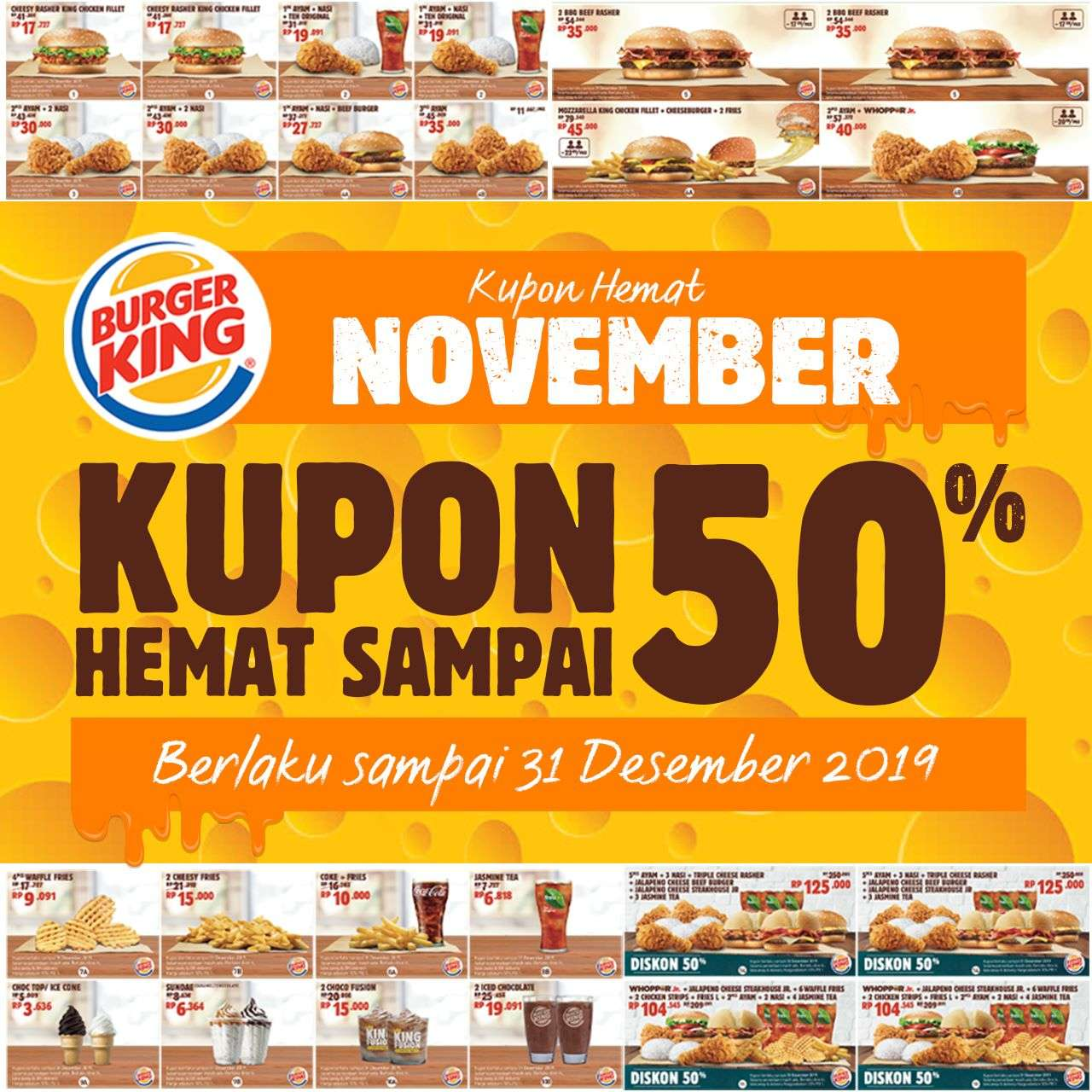 Burger King Promo Kupon Hemat November 2019 Diskon Hingga 50%