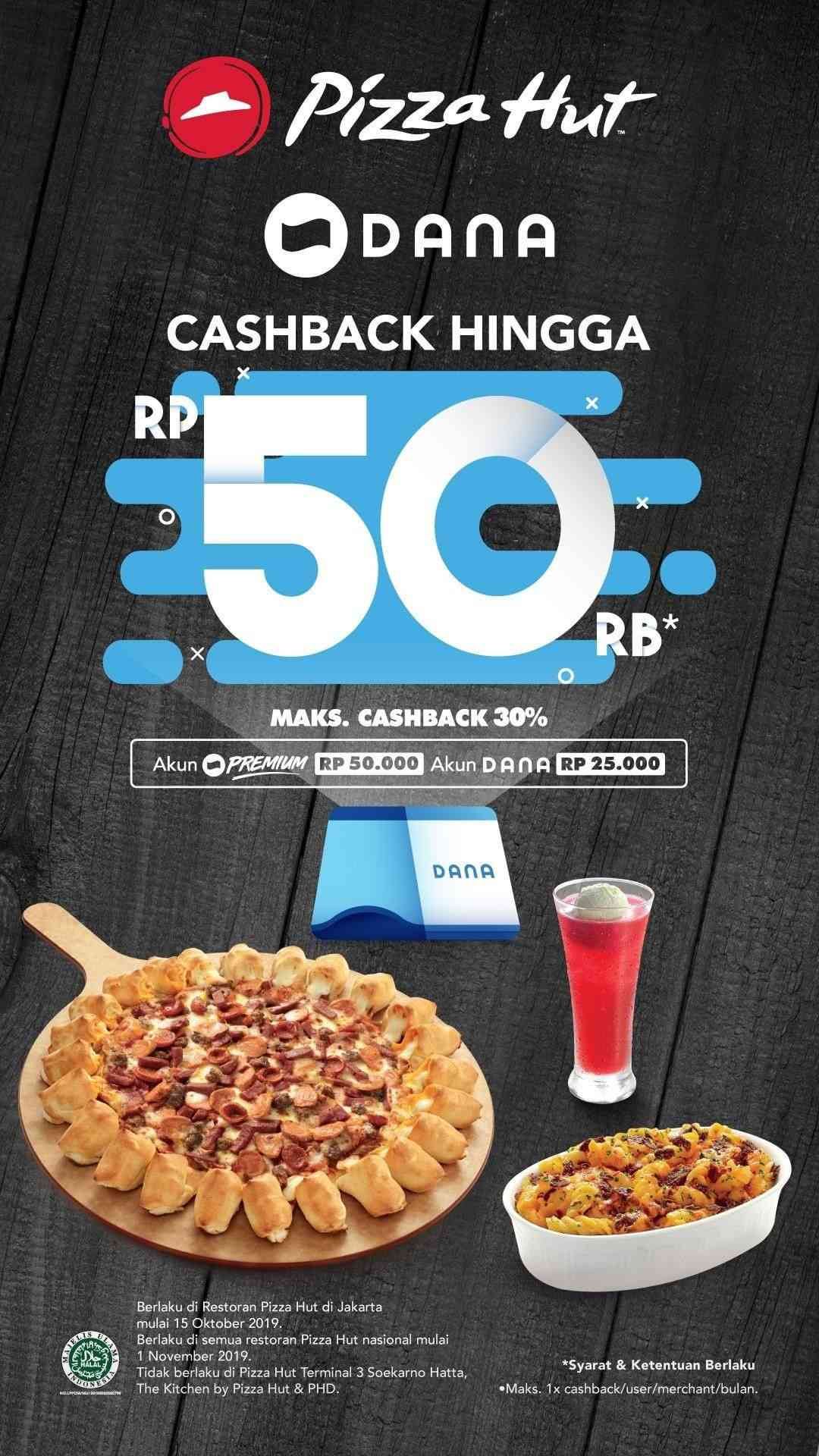 Pizza Hut Promo Cashback 30% dengan DANA