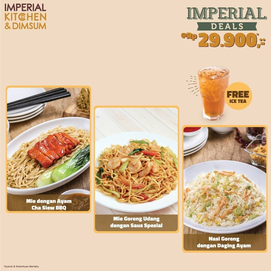 Imperial Kitchen & Dimsum Promo Imperial Deals Hanya Rp 29.900,-++ Free Ice Tea