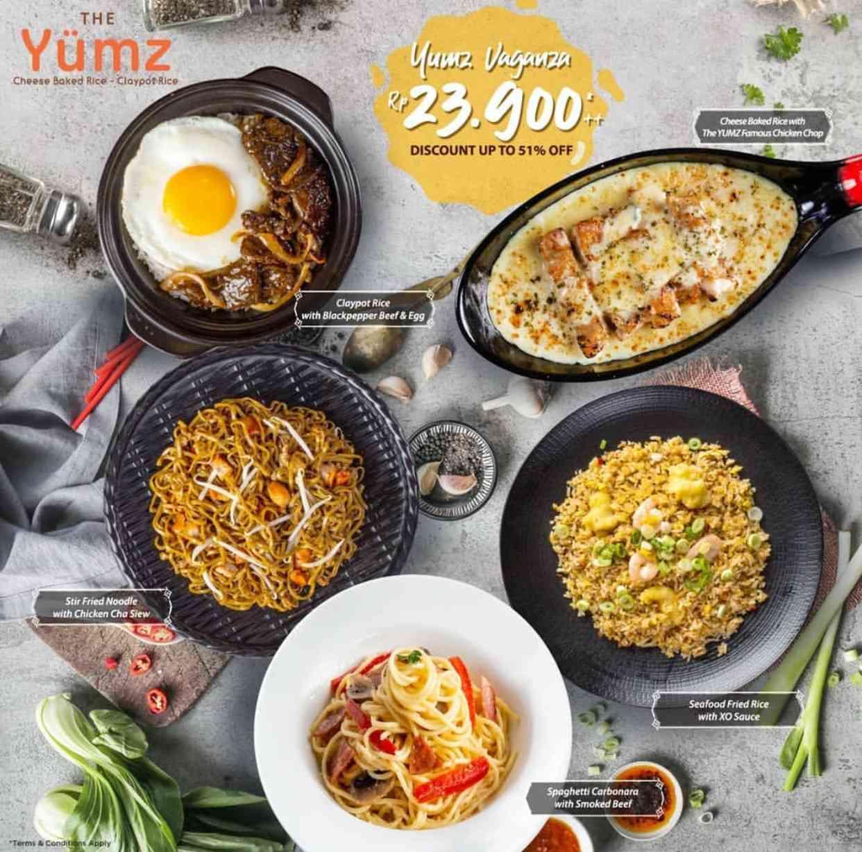 The Yumz Promo Yumz Vaganza 5 Menu Pilihan hanya Rp. 23.900