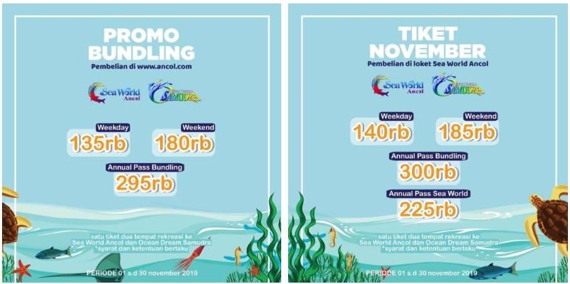 Ocean Dream Samudra dan Seaworld Ancol Promo Paket Bundling Tiket