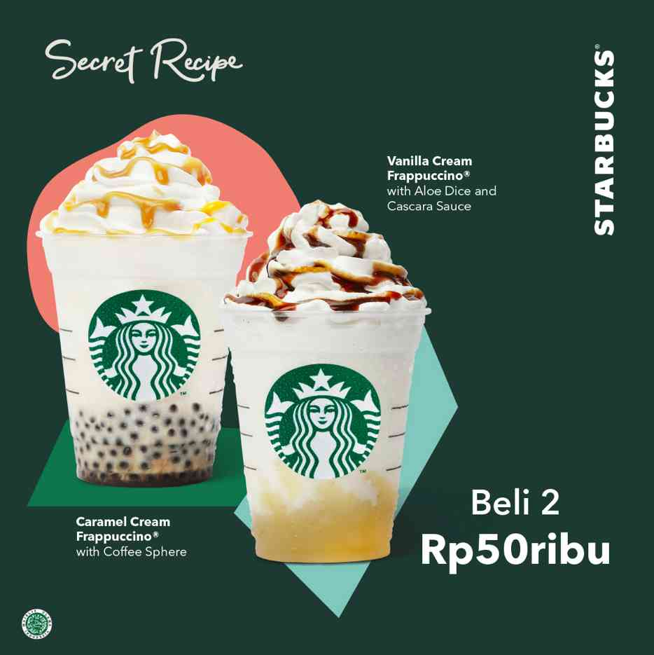Starbucks Secret Recipe Buy 2 Rp. 50.000 dengan Kupon LINE