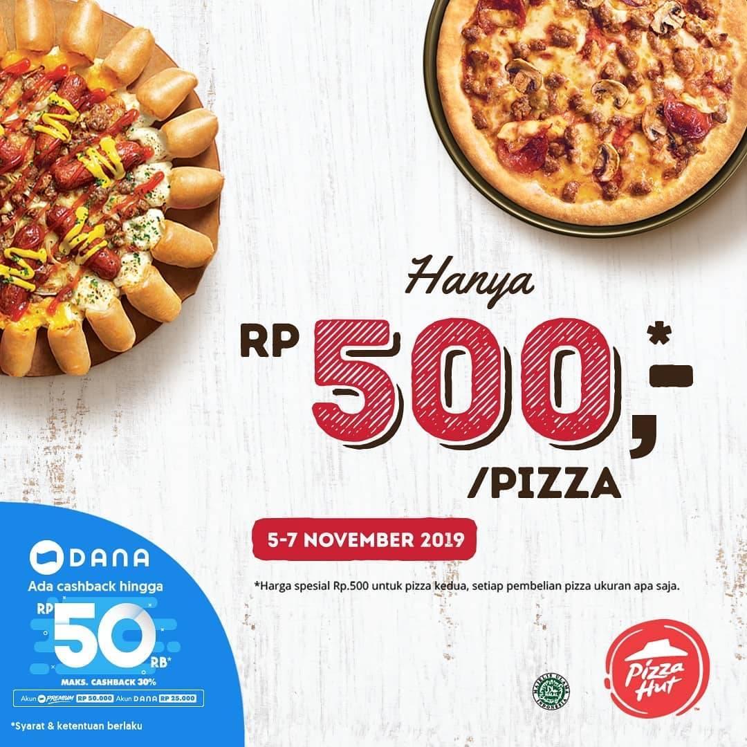 Pizza Hut Promo Harga Spesial Rp.500 untuk Pizza kedua Diperpanjang