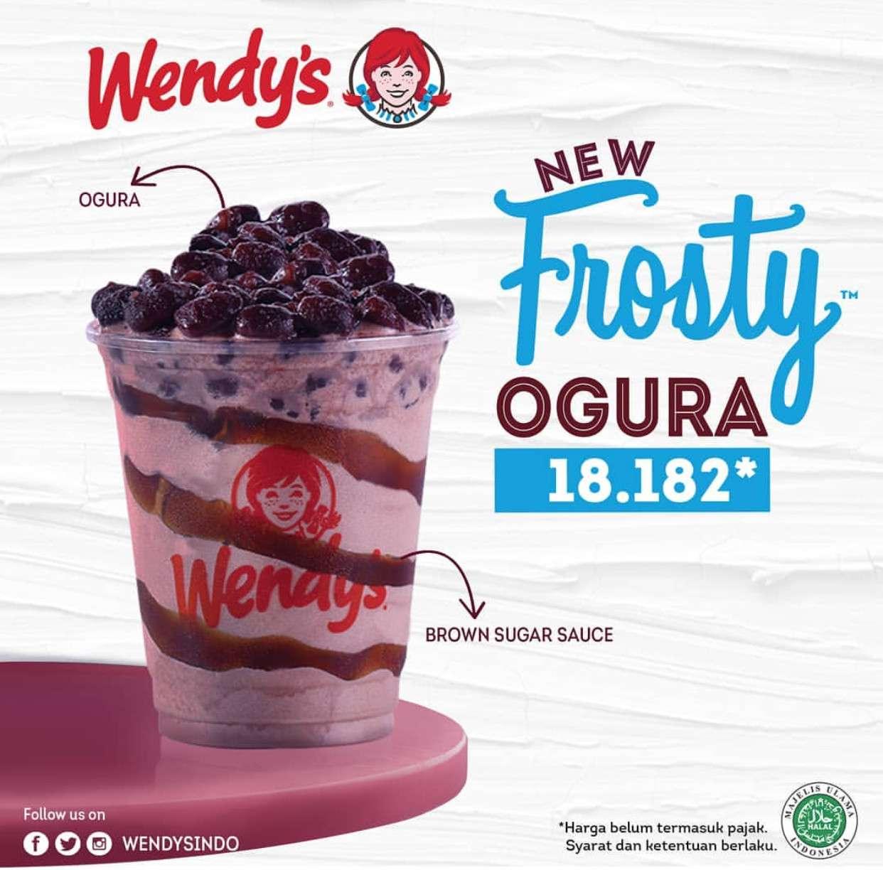 Wendy's New Frosty Ogura cuma Rp. 18.182