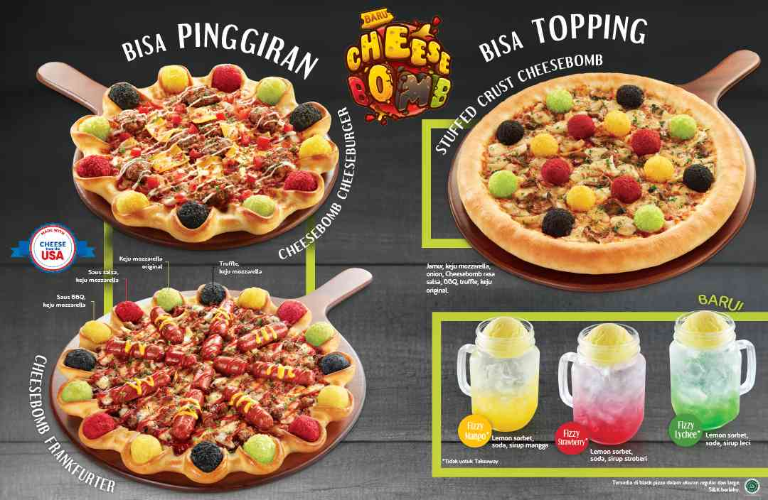 Pizza Hut Menu Baru Cheesebomb Pizza