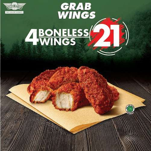 Wingstop Promo 4 Boneless Wings Only Rp 21.000