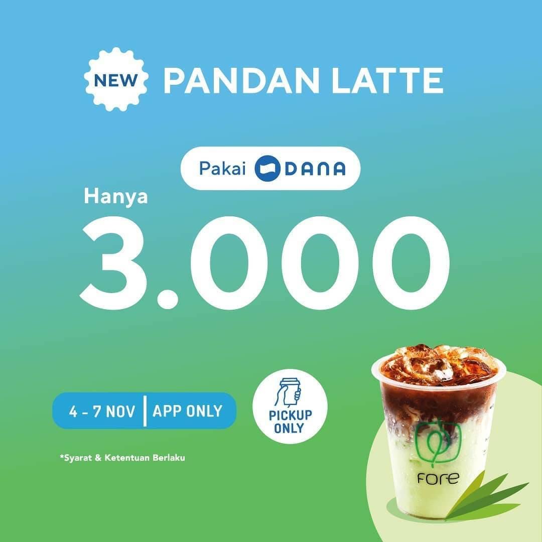 Diskon Fore Coffee Promo New Menu Pandan Latte Hanya Rp 3.000 dengan DANA
