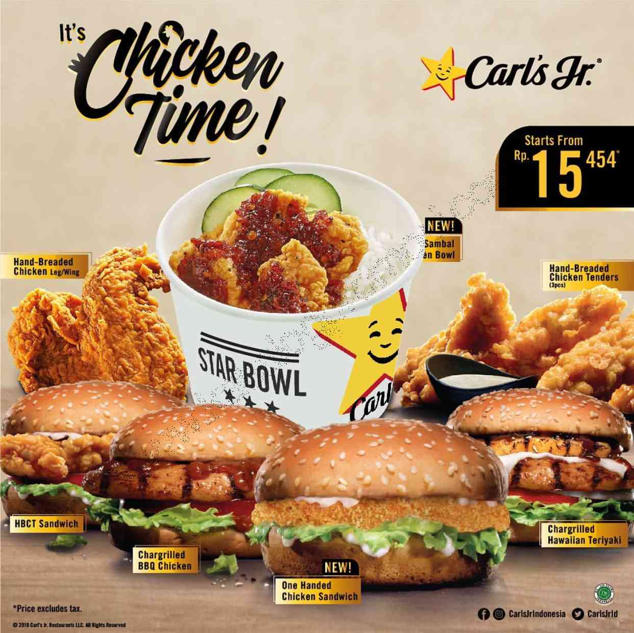 Diskon Carls Jr New t's Chicken Time! series