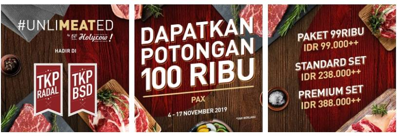 Steak Hotel by Holycow! Promo Potongan IDR 100.000 Per Pax